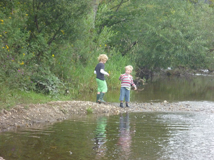 Having Fun at the River. Mains of Murthly Cottages also have private trout fishing on a stretch of the River Tay - permits are available on request.