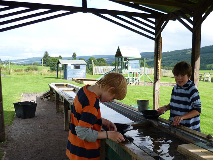Gold Panning at Highland Safaris.