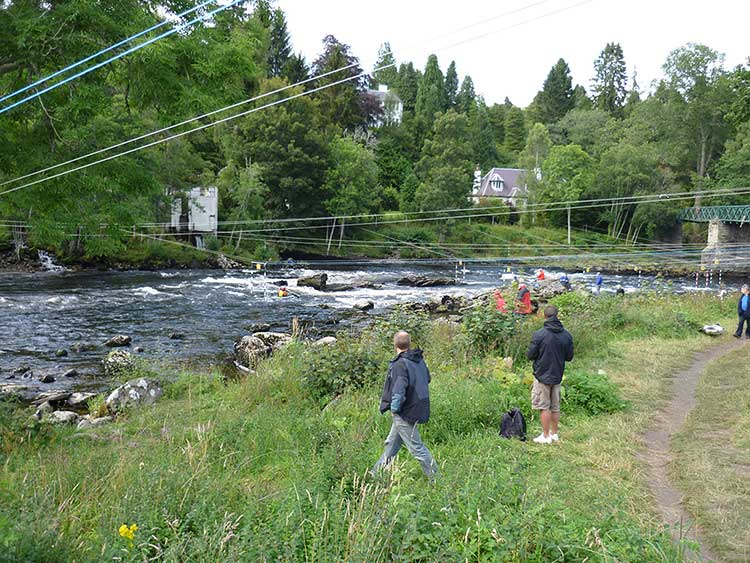 Scottish White Water Slalom Course at Grandtully.